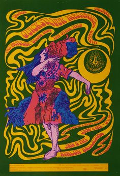 Quicksilver Messenger Service/The Steve Miller Blues Band/The Other Half/Ben Van Meter/Roger Hillyard, January 6 & 7, 1967 - Avalon Ballroom (San Francisco, CA) Art by Victor Moscoso.