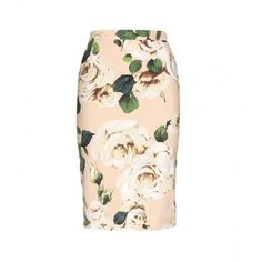 Dolce & Gabbana Print Pencil Skirt ($604) ❤ liked on Polyvore