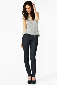 Pistols Skinny Jeans in Charcoal