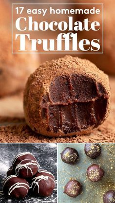 17 Easy, Extremely Delicious Homemade Chocolate Truffles