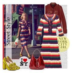 """New York City Girl"" by sylandrya ❤ liked on Polyvore featuring H&M and Gucci"