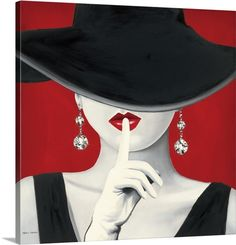 """Fashion Art - """"Haute Chapeau Rouge I"""" wall art by Marco Fabiano available at Great BIG Canvas."""