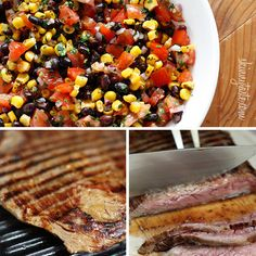 ... Grilled Flank with Tomatoes Red Onion and Balsamic, and Grilled