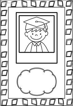 Graduation Crafts, College Graduation Pictures, Pre K Graduation, Kindergarten Graduation, Kindergarten Crafts, Kindergarten Worksheets, Preschool Crafts, Orla Infantil, Promotion Card