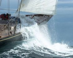 Shamrock V is a J-Class yacht designed by Charles E Nicholson and launched in She was built for Sir Thomas Lipton to challenge for the America's Cup. Classic Sailing, Classic Yachts, J Class Yacht, Sail Racing, Out To Sea, Yacht Boat, Yacht Design, Salt And Water, Catamaran