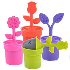2015 New 1pcs, Multicolor Flower Pot Home Tea Strainers Device Tea Bag Tea Filters Teaspoon Infuser ** Read more reviews of the product by visiting the link on the image.