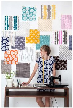 Lotta Jansdotter has a line of fabrics and we will be able to buy them! But, we'll have to wait until November.