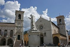San Benedetto, Norcia, Italy, birthplace of St Benedict