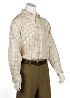 Bonart Classic Country Traditional Tatersall Check Shirt Long sleeves placket front Single button through chest