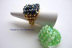 Beaded Rings - Swarovski Crystal Elements & Czech Fire-polished Glass beads