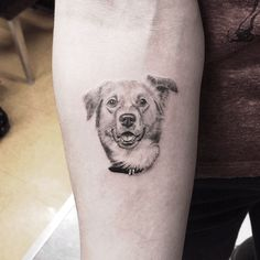"""L.A.'s 15 Coolest Tattoos — & The Man Behind Them All #refinery29  http://www.refinery29.com/favorite-los-angeles-tattoo-artists-work#slide-15  """"I do a great amount of dog portraits, but this one stands out — so much expression in her face,"""" Woo tells us. """"The owner said this is the face she makes when you say 'tacos.'"""""""
