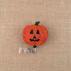 Shimmering Pumpkin-Badge Holder-Retractable ID Badge