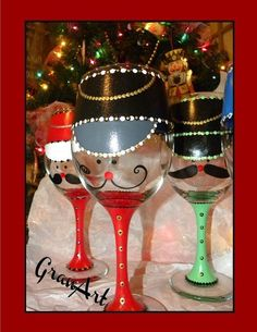 painted wine glass, crafts