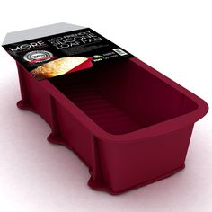 More Cuisine Essentials BG - 1322 Eco-Friendly, Nonstick Silicone Loaf and Bread Pan, Commercial Grade