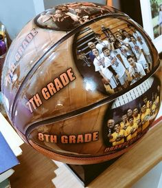 266808d138c Sports highlights through the years on a custom basketball... another  beautiful customer creation
