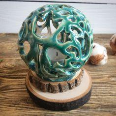 Ажурный подсвечник. #подсвечник  #керамика