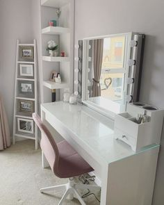 MALM Dressing table - white stained oak veneer - IKEA - Lilly is Love Ikea Malm Dressing Table, Dressing Room Decor, White Dressing Tables, Dressing Table Design, Ikea Malm Table, Dressing Table Inspiration, Bedroom Dressing Table, Makeup Dressing Table, Dressing Table Mirror