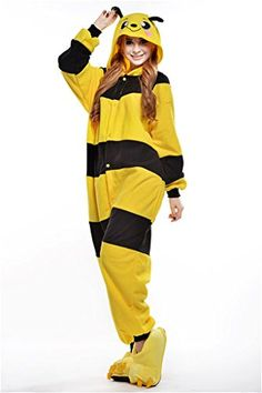 MCandy Unisex Adult Bee Halloween Holiday Party Costumes Onesies XL *** Find out @ http://www.amazon.com/gp/product/B01L8RGVBA/?tag=christmas3638-20&pbc=011016064138