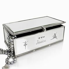 Flower Girl Silver Ballerina Jewellery Box Gift   Personalised