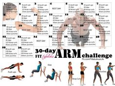 30 Day Arm Challenge #pushups #tricepdips #curls #punches #hardcore #getfit #workout