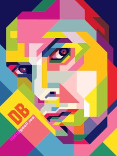 David Bowie in WPAP by icalsaid.deviantart.com on @DeviantArt
