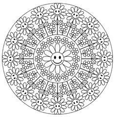 Mandala 640, Creative Haven Groovy Mandalas Coloring Book, Dover Publications