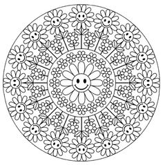Mandala 640, Creative Haven Groovy Mandalas Coloring Book, Dover Publications