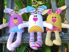 THE CARROT CLUB BUNNIES PRINTED SOFT TOY PATTERN This is the printed version of The Carrot Club Bunnies soft toy pattern, it will be mailed to your home/postal address. The purchase price includes FREE shipping. * Approx. size 12 1/2in from the tips of their bunny ears to the tips