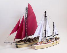 We are sailing Cool Lego, Cool Toys, Awesome Lego, Lego Boat, Lego Ship, Lego Worlds, Lego News, Lego Architecture, Lego Models
