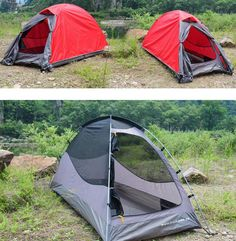 1.7KG outdoor 1 person double layer aluminum pole high-quality waterproof camping tent for hiking fishing hunting adventure. * Want to know more, visit…