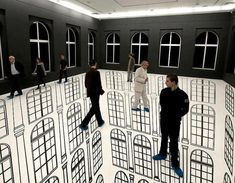That's trippy Illusion Art by Regina Silveira 3d Street Art, Street Work, 3d Floor Painting, Illusion Kunst, Instalation Art, Cool Optical Illusions, Floor Art, Contemporary Abstract Art, Art Plastique