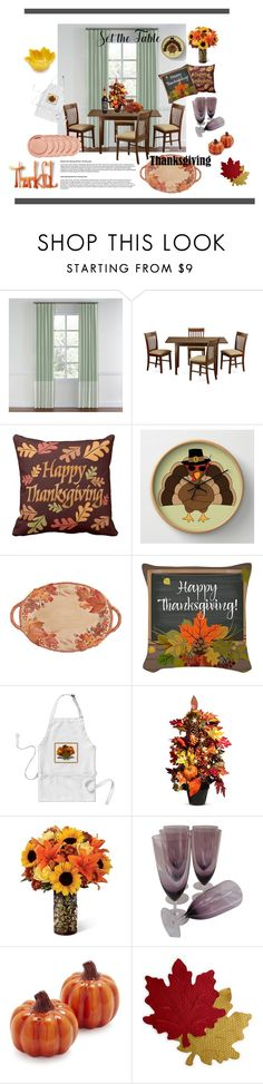 """""""autumn table"""" by christmarlyd ❤ liked on Polyvore featuring interior, interiors, interior design, home, home decor, interior decorating, WALL, Fitz & Floyd, Improvements and Sur La Table"""