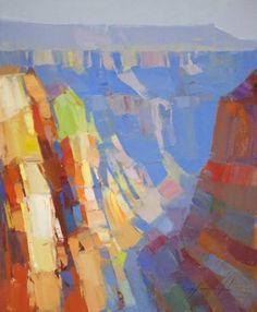 Grand Canyon Arizona, Landscape oil Painting, handmade artwork