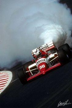 f1 Jonathan Palmer-Zakspeed em Spa, 1986...