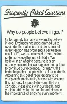 Why do people believe in god?