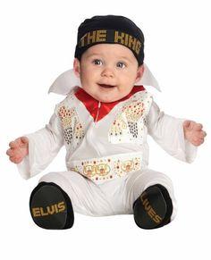 Baby One Piece Elvis Costume - Elvis Primer Halloween, Halloween Mono, Halloween Bebes, Couples Halloween, Baby Halloween Costumes For Boys, Baby First Halloween, Toddler Costumes, Halloween Fancy Dress, Newborn Halloween