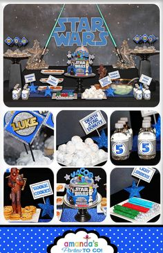 Star Wars Party - Birthday - Star Wars Inspired PRINTABLE Party Package by Amanda's Parties To Go. $29.00, via Etsy.