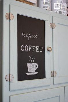 Hoosier Cabinet Made Into a Coffee Bar #furniturefinds