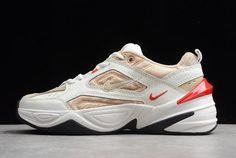 cd83a96550 Nike M2K Tekno Summit White/Champagne-Red AO3108-102