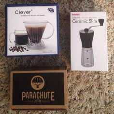Camabbie (camabbie) | My brew kit has arrived and is being unpacked! Super stoked! #brewkit @parachutecoffee