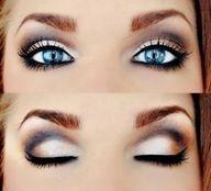 dramatic / neutral eye makeup
