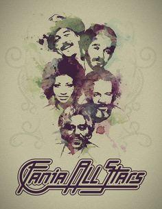 Fania All Stars: Rubén Blades, Willie Colón, Celia Cruz, Ismael Rivera, Johnny Pacheco Spanish Music, Latin Music, Disco Party, 70s Singers, Ruben Blades, Puerto Rican Music, Willie Colon, All Star, Salsa Music