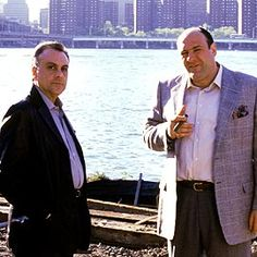 "Johnny Sack and Tony Soprano in ""The Sopranos."""