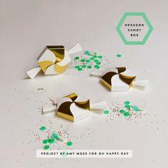 DIY: Hexagon Candy Box! | Art And Chic