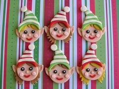 Santa's Workshop Elf Cupcake Toppers by Lynlee's Petite Cakes, via Flickr