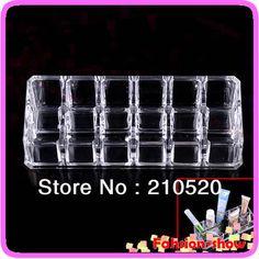 new clear plaza cosméticos de maquillaje organizador cajones 12 rejillas lápiz labial estante de exhibición del gabinete titular de caso
