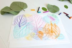 Leaf Rubbing Collages - 20 camping crafts for kids! Camping Crafts For Kids, Fun Crafts To Do, Diy Crafts For Kids, Kindergarten Art Projects, Craft Projects, Craft Ideas, Painting For Kids, Art For Kids, Fall Arts And Crafts