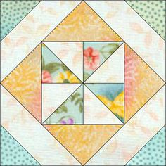 Pinwheel in a Square Quilt Block Pattern  http://quilting.about.com/od/blockofthemonth/ss/pinwheel_square.htm#