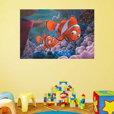 Finding Nemo fan? Prove it! Put your passion on display with a giant Finding Nemo Mural Fathead wall decal!