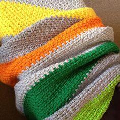 Crotchet Bold Stripes Blanket Pattern